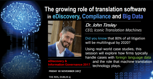 Iconic CEO John Tinsley: featured speaker at the eDiscovery and Information Governance conference