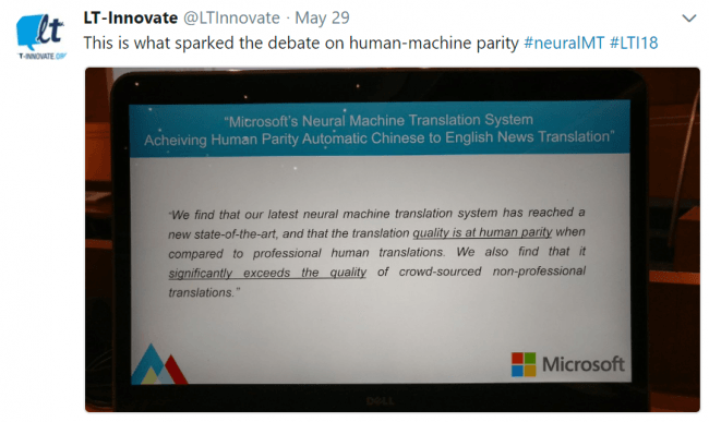 a slide from John's presentation  which includes the statement from Microsoft which inspired the panel topic