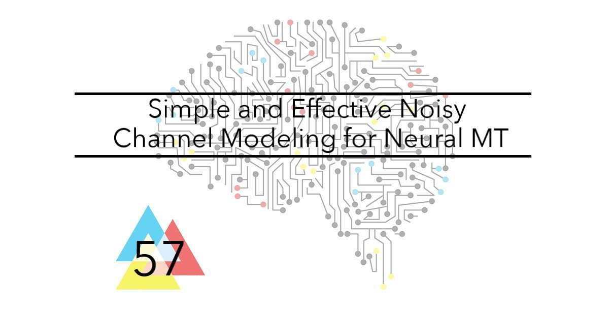 NMT Issue 57 Simple and Effective Noisy Channel Modeling for Neural MT