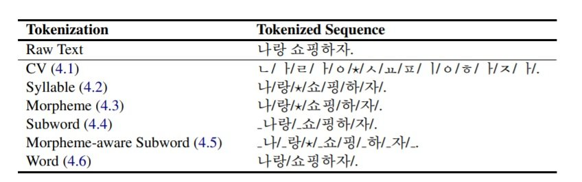 NMT 132 Table 1 an input sentence is tokenized in different ways